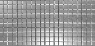 a prata 3d cuba o fundo abstrato Imagens de Stock