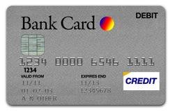 Prata do cartão de visto Imagens de Stock Royalty Free