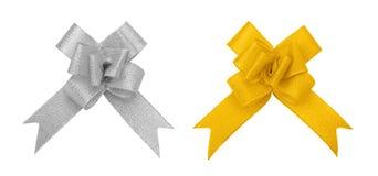 Prata e entalhe dourado da curva Fotografia de Stock