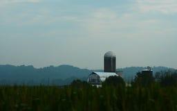 Prata e Gray Barn Fotografia de Stock