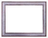 Prata e moldura para retrato de madeira larga pintada violeta Fotografia de Stock Royalty Free