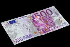 Prata e notas de banco do derretimento Fotos de Stock Royalty Free