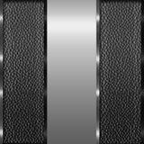 Prata elegante e fundo marrom Imagem de Stock