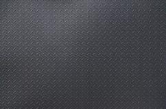 Prata escovada alumínio do fundo da textura do metal Placa de assoalho do metal com teste padrão do diamante Imag do fundo do Gru imagem de stock