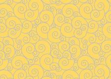 Prata espiral no fundo do ouro Imagens de Stock Royalty Free