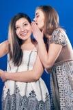 prata flickor som talar att viska Fotografering för Bildbyråer