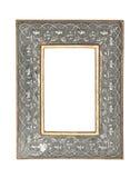 Prata - frame de retrato do ouro com trajeto de grampeamento Imagens de Stock Royalty Free