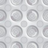 Prata infinito da quadriculação Fotografia de Stock