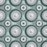 Prata infinito do verde da quadriculação Foto de Stock Royalty Free