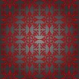 Prata luxuosa e papel de parede vermelho. Sem emenda. Foto de Stock Royalty Free