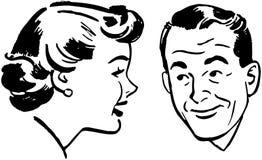 prata mankvinna stock illustrationer
