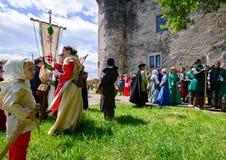 Prata medieval Tatosh do festival da cultura Foto de Stock Royalty Free