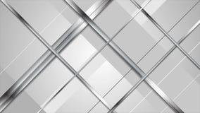 A prata metálica abstrata da tecnologia listra o videoclip ilustração do vetor