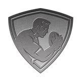 Prata metálica do protetor do jogador do rugby Fotos de Stock Royalty Free