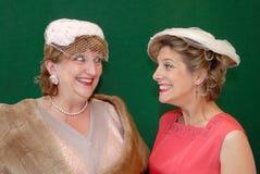 prata retro kvinnor för femtiotal Royaltyfria Bilder