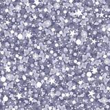 A prata sparkles fundo sem emenda do teste padrão Fotografia de Stock Royalty Free