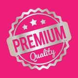 Prata superior do carimbo de borracha da qualidade em um fundo cor-de-rosa Fotos de Stock