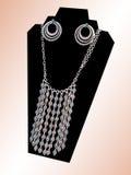 Prata, turquesa e Coral Necklace Imagem de Stock Royalty Free