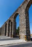 Prataaquaduct in Evora, Portugal Royalty-vrije Stock Afbeeldingen