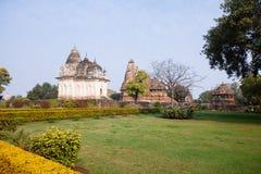 Pratapeshwar tempel Västra tempel av Khajuraho india Arkivbild