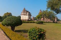 Pratapeshwar Temple and Vishvanath temple in  Khajuraho Stock Photos