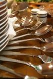 Pratas e dishware Imagens de Stock Royalty Free
