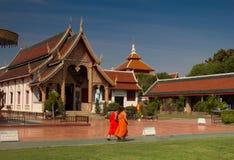 PratatHaripunchaitempel, Lampoon, Thailand Royalty-vrije Stock Foto