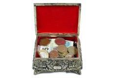 Abra a caixa com dinheiro Imagens de Stock