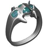 Prateie o anel Fotografia de Stock Royalty Free