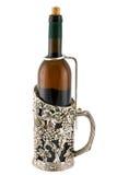Prateie a sustentação para um frasco de vinho imagens de stock