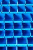 Prateleira azul imagens de stock royalty free