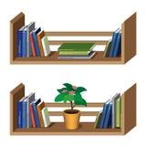 Prateleira com livros Ilustração do Vetor