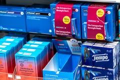 Prateleira da farmácia fotografia de stock