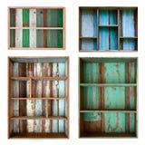 Prateleira da madeira do vintage foto de stock royalty free