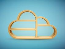 Prateleira de madeira da nuvem Imagem de Stock Royalty Free