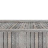 Prateleira de madeira para o fundo Fundo para o conceito da exposição do produto Foto de Stock Royalty Free