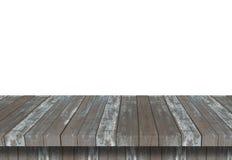 Prateleira de madeira para o fundo Fundo para o conceito da exposição do produto Imagem de Stock
