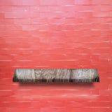 Prateleira de madeira para o fundo Fundo para o conceito da exposição do produto Imagens de Stock