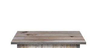 Prateleira de madeira para o fundo Fundo para o conceito da exposição do produto Imagens de Stock Royalty Free