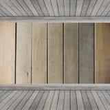 Prateleira de madeira para o fundo Fundo para o conceito da exposição do produto Fotografia de Stock