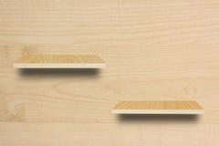 Prateleira de madeira vazia Imagem de Stock Royalty Free