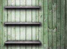 Prateleira de madeira velha Foto de Stock Royalty Free