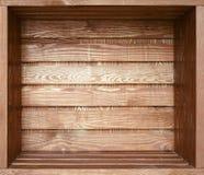 Prateleira de madeira velha vazia Imagem de Stock Royalty Free