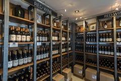 Prateleira do vinho Imagens de Stock