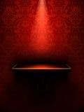 Prateleira vazia, luxo vermelho ilustração stock