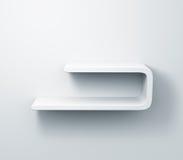 Prateleiras brancas no modelo da parede 3d Foto de Stock