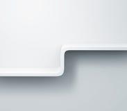 Prateleiras brancas no modelo da parede 3d Fotografia de Stock Royalty Free