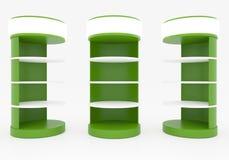 Prateleiras circulares verdes Fotos de Stock