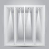 Prateleiras com luzes Fotografia de Stock
