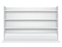 Prateleiras vazias do wiyh branco da mostra ilustração stock